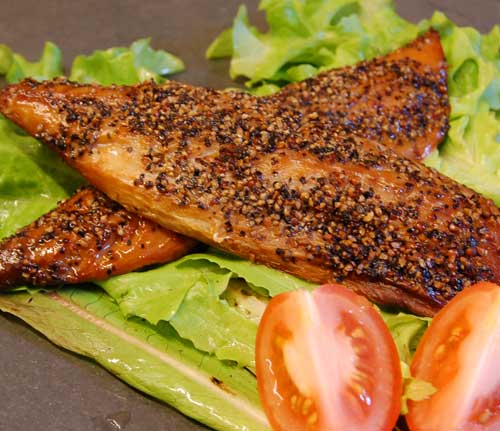 Peppered Smoked Mackerel Fillets